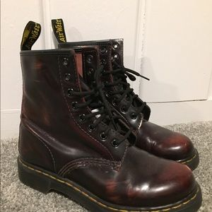 Women's Dr. Martens size 7 Burgundy two toned